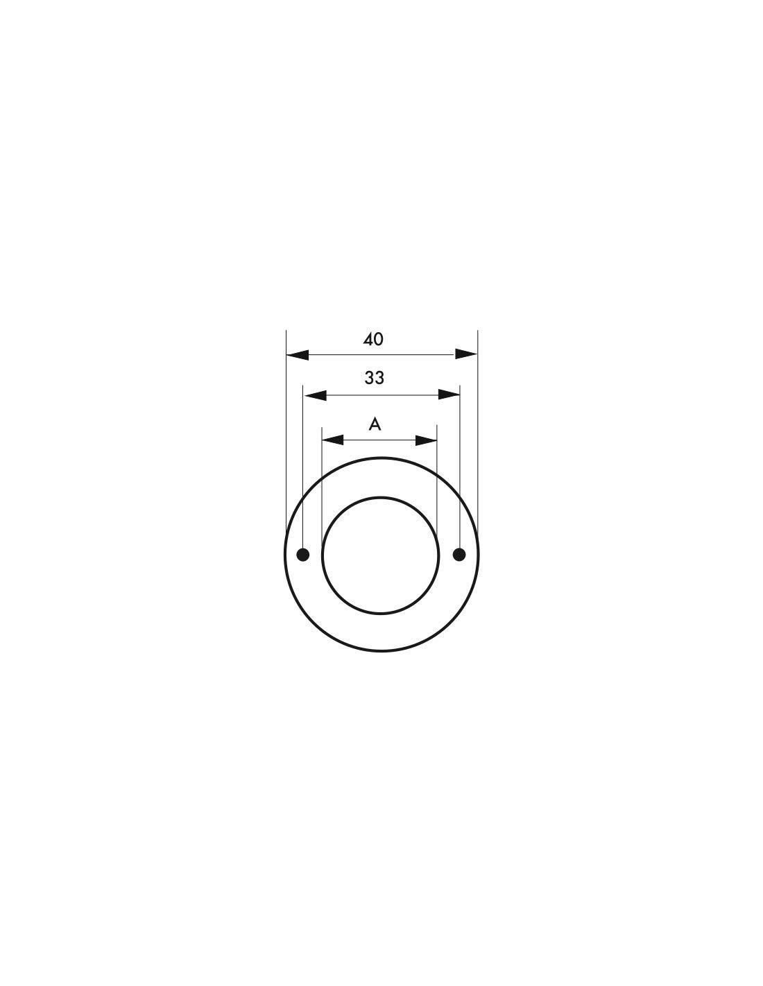 Thirard - Rosace laiton diamè tre 24 mm