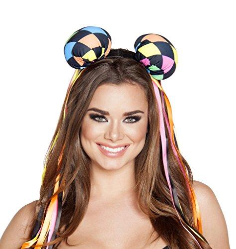 Deadmau5 Rave Mouse Diamond Print Ears Headband Costume Accessory ()