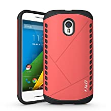 Motorola G 3rd Generation Case, J&D [Armor Protection] Moto G 3rd Generation [Heavy Duty] [Dual Layer] Hybrid Shock Proof Fully Protective Case for Moto G 3rd Generation (Shield Protection, Pink)