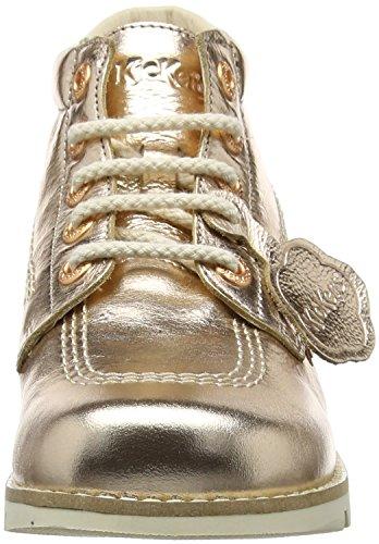 Kickers Kick Hi C Lthr AF, Botas Para Mujer Dorado (Rose Gold)