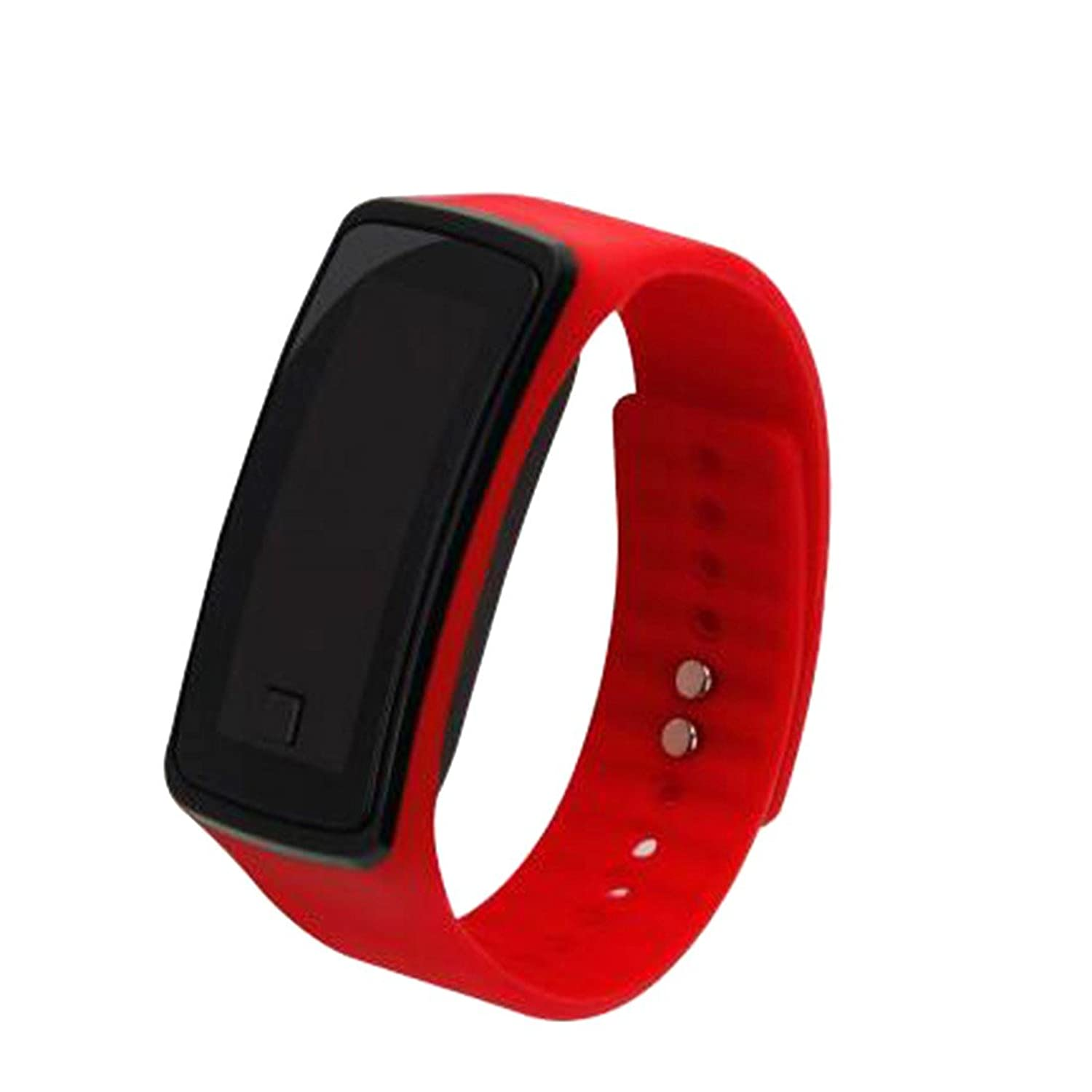 Amazon.com: Silicone Quartz Watch Sports LED Electronic Watch Wristwatch Lovers Watch Unisex Red: Watches