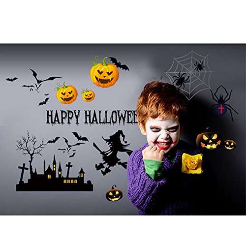 Smartcoco DIY Creative Halloween Elements Wall Sticker Vivid Wall Decals Kid Room Living Room Bedroom Halloween Decors (Disfraz De Halloween De Minnie Mouse)
