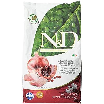 Farmina Natural And Delicious Grain-Free Formula Dry Dog Food, 5.5-Pound, Chicken