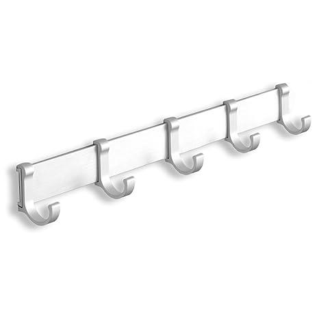 ACMETOP perchero de pared Robe Ganchos Hanger rack para sala de estar, cuarto de baño, inodoro, dormitorio, cocina - Original de Aluminio Acabado en ...