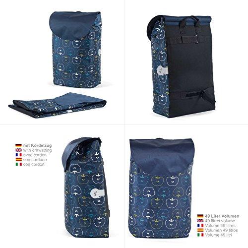 Original Andersen Royal Shopper mit Tasche Hava blau, mit Kugellager