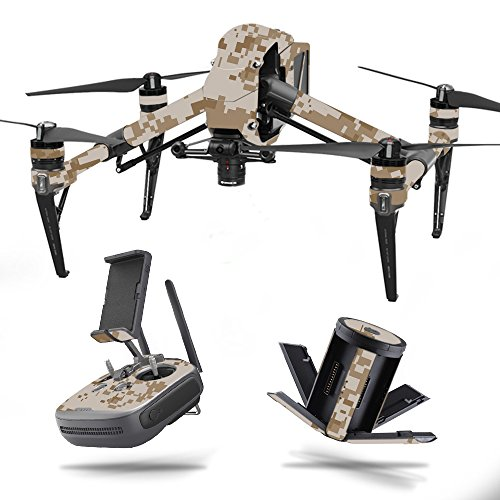 MightySkins Skin for DJI Inspire 2 - Desert Camo | Protective, Durable, and Unique Vinyl Decal wrap Cover | Easy to Apply, Remove, and Change Styles | Made in The USA