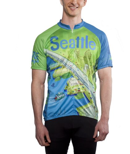 Larry Gets Lost in Seattle Cycling Jersey, Men's Club Cut