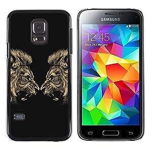 Paccase / Dura PC Caso Funda Carcasa de Protección para - Lion Angry Roar Fight Boxing Champion - Samsung Galaxy S5 Mini, SM-G800, NOT S5 REGULAR!