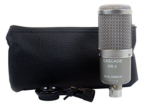 Cascade Microphones DR-2 Dual Ribbon Microphones, Grey Body/ Anodized Silver Grill by Cascade Microphones