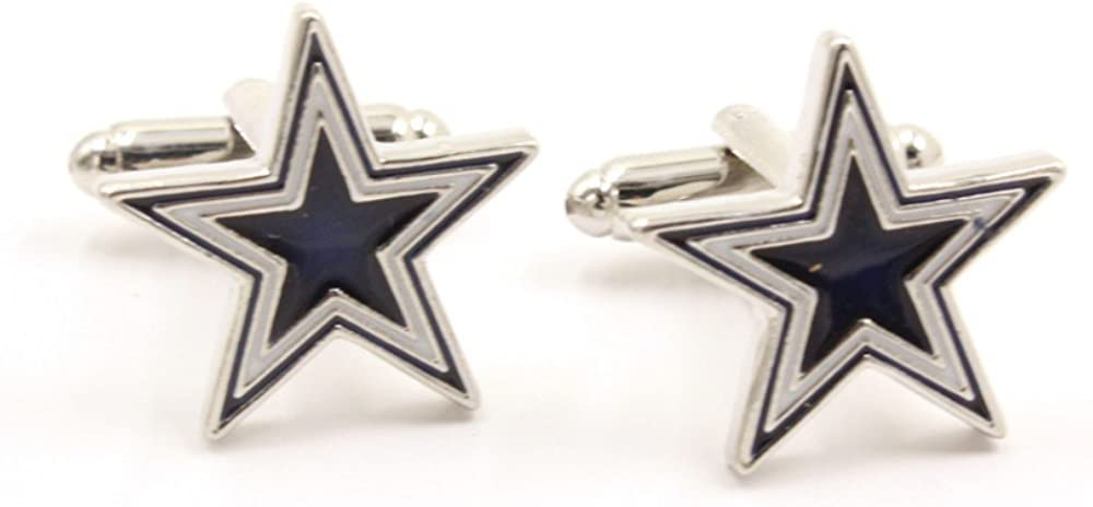SS Navy and White Prismatic Star Cufflinks for Men