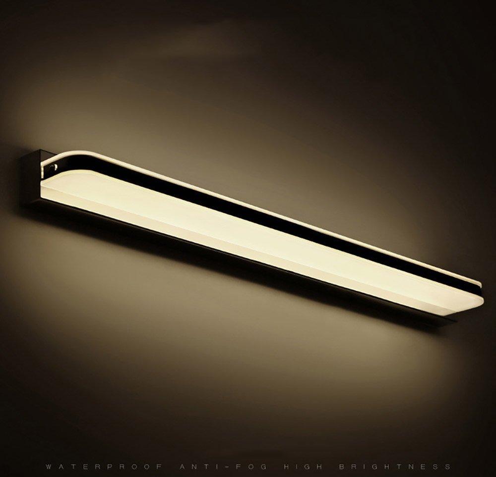 Frontspiegelleuchten Spiegelfrontlicht führte wasserdichte Anti-Fog-Badezimmerbadezimmerspiegel-Wandlampe Europäisches einfaches modernes unbedeutendes Knopfkabinettlicht führte helles