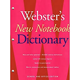 HOUGHTON MIFFLIN WEBSTERS NEW NOTEBOOK DICTIONARY (Set of 12)