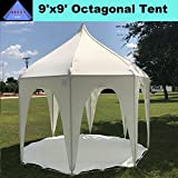 9'x9' Octagonal Party Tent Polyester Canopy for Children - By DELTA Canopies