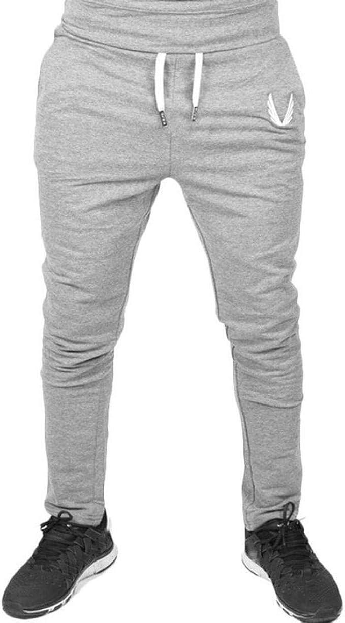 Crystallly Hombres Pantalones De Elástico De Entrenamiento ...