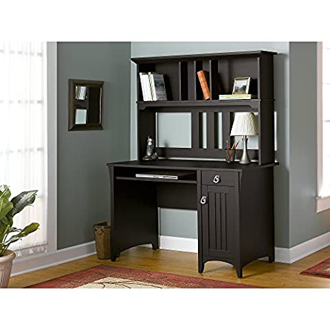 Salinas Mission Style Desk with Hutch in Aged Tobacco - Mission Style Corner