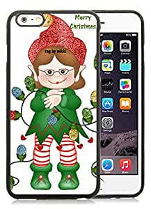 Individualization iPhone 6 Plus Case,Merry Christmas Black iPhone 6 Plus 5.5 TPU Case 47