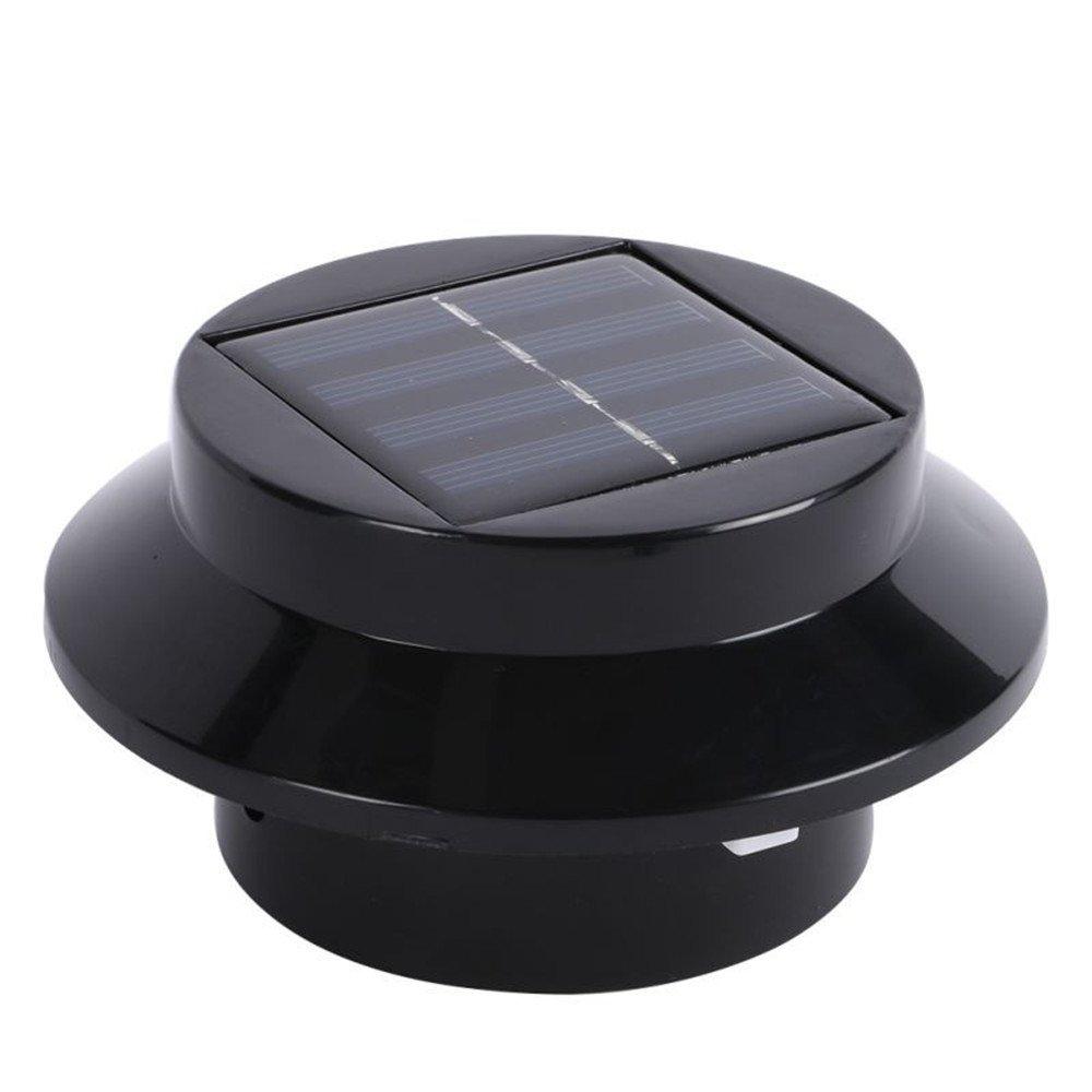 KingTo LED Solar Outdoor Sensor Light Lamp Eaves Solar Light Street Light Waterproof Garden Path Wall Lamp Fence Solar Lights(Warm Light)