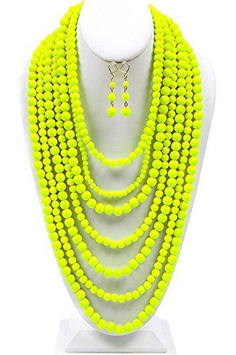 Fashion Strand Layered Costume Necklace