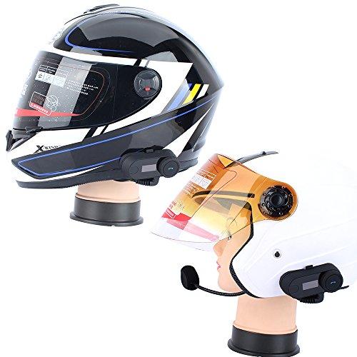Helmet Communication Systems,FreedConn TCOM-SC Motorcycle Helmet Bluetooth Headset Intercom for Motorbike Skiing (LCD Screen/FM Radio/Handsfree/Range-800M/2-3Riders Pairing/Black)