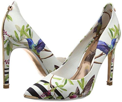 highgrove Femme Baker Ballerines Blanc Hummingbird Ted Fermé Bout Hallden ffffff qW0W6S1