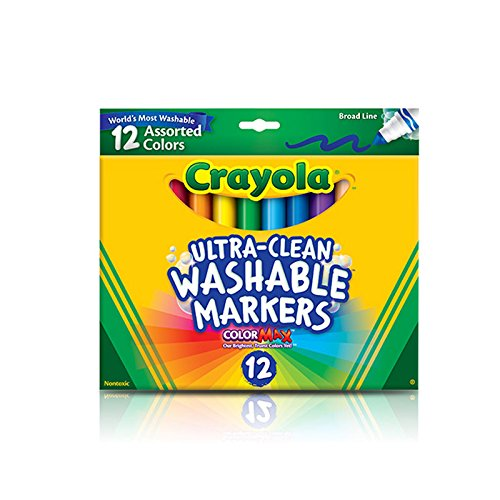 Crayola 12 Ct Ultra-Clean Washable Markers - Castle Collection Wall