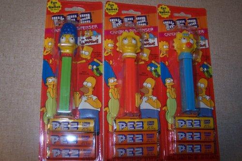 Simpsons Pez 3 pack Marge , Lisa , Maggie ()