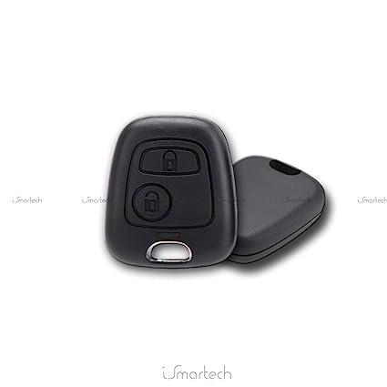Carcasa de carcasa para mando de coche para llave Peugeot 106 107 206 207 407 806 Dos llaves