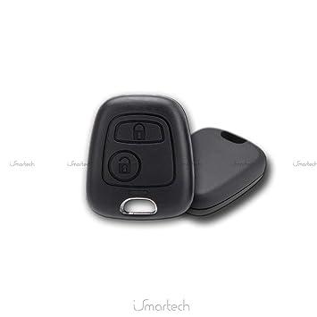 E-Senior Reemplazo Carcasa para llave a distancia para Citroen Xsara Picasso Berlingo sin hoja y sin tornillos