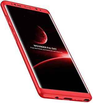 Samsung Galaxy Note 8 - Slim Hybrid Shockproof Armor Hard Thin Case Cover - Red