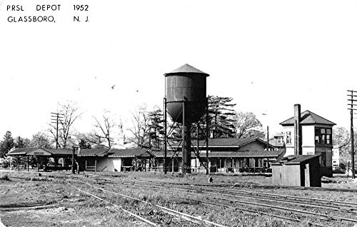 Glassboro New Jersey - Glassboro New Jersey PRSL Train Depot Real Photo Repro Postcard J2531333