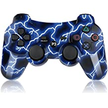 Bowei PS3 Controller Wireless SIXAXIS Double Shock Controller for Playstation 3 with Charge Cord(Blue Light)