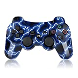 xbox one package fifa - Bowei PS3 Controller Wireless SIXAXIS Double Shock Controller for Playstation 3 with Charge Cord(Blue Light)