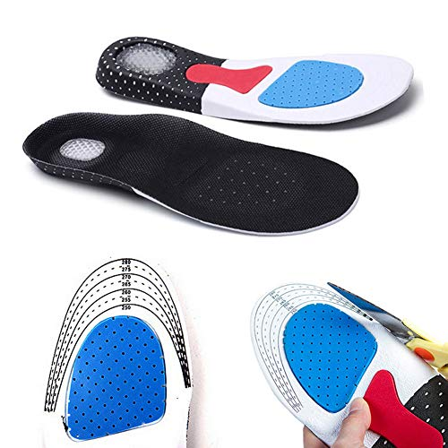 Men Support Cushion KY Gel Orthotic Sport Running Insoles Insert Shoe Pad Arch (41-45) by LYG