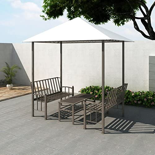 XINGLIEU Pabellón de jardín con pérgola DE 2,5 x 1,5 x 2,4 m de pérgola de Tela y Marco de Acero: Amazon.es: Jardín