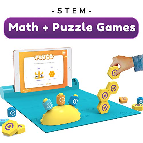 Shifu Plugo STEM Pack - Math & Construction (Link & Count), Augmented Reality Games with Fun Building Blocks | Cool Math Game for Ages 5-10 Years Boys & Girls Pre-K to Grade 5 (App Based)