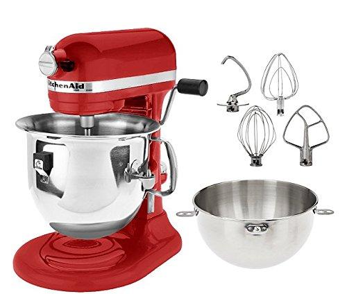 KitchenAid Professional 600 Series KP26M1XER Bowl-Lift Stand Mixer, 6 Quart, Red - Kitchenaid Mixer 3 Qt