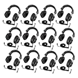 Califone 3068AV Switchable Stereo/Mono Headphones 12-Pack Bundle