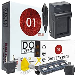 DOT-01 Brand 2350 mAh Replacement Fujifilm NP-95 Battery and Charger for Fujifilm X100S Digital Camera and Fujifilm NP95 Accessory Bundle with BONUS Lens Blower Brush Cleaning Kit and Hard Memory Card Case