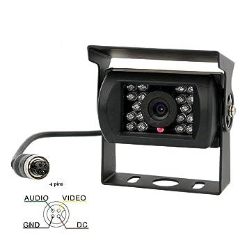 Camecho - Cámara de seguridad para coche, con visión frontal sin guía, visión nocturna