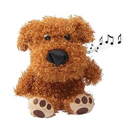 Dj Rapper Mimicry Pet/Stuffed Dog Talking Toy for Kids Repeat Talking Stuffed Dog Toy: Pet Supplies