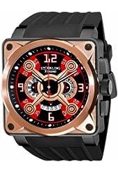 Stuhrling Xtreme Men's 321.332R640 Raven Crossfire Quartz Chronograph Rosetone Watch