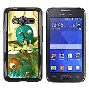 Exotic-Star ( Blue Fish Bowl Pet Fishing Fisherman ) Fundas Cover Cubre Hard Case Cover para Samsung Galaxy Ace4 / Galaxy Ace 4 LTE / SM-G313F