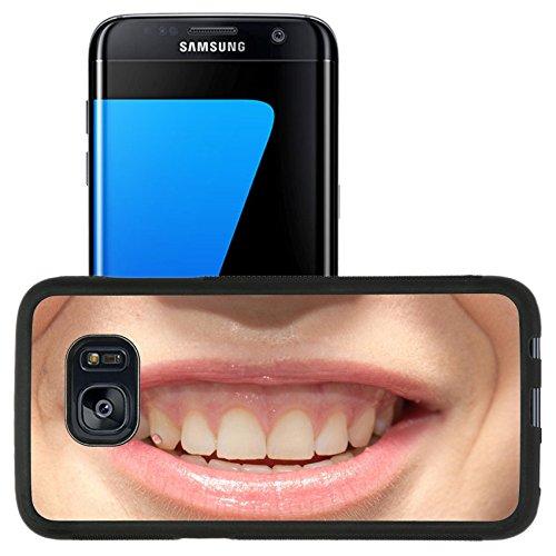 Luxlady Premium Samsung Galaxy S7 Edge Aluminum Backplate Bumper Snap Case IMAGE ID: 34078443 beautiful smiling girl