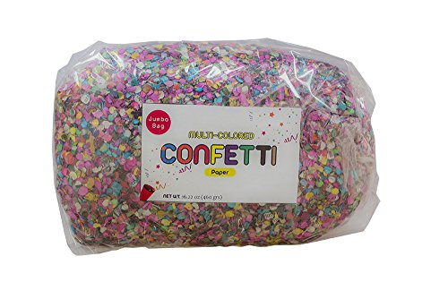 Multicolored Mexican 17.6 Oz Jumbo Confetti Bag- Multicolor All Kind of Celebrations Ecological and Naturally Dyed - Fiesta Confetti - Confetti toss - Confetti foil - Confetti Mexicano