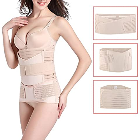 5c4ed2948e 3 in 1 Postpartum Support Recovery Belly Wrap Girdle Band Belt Body Shaper  Postnatal Shapewear