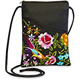 Embroidered Floral Travel Crossbody