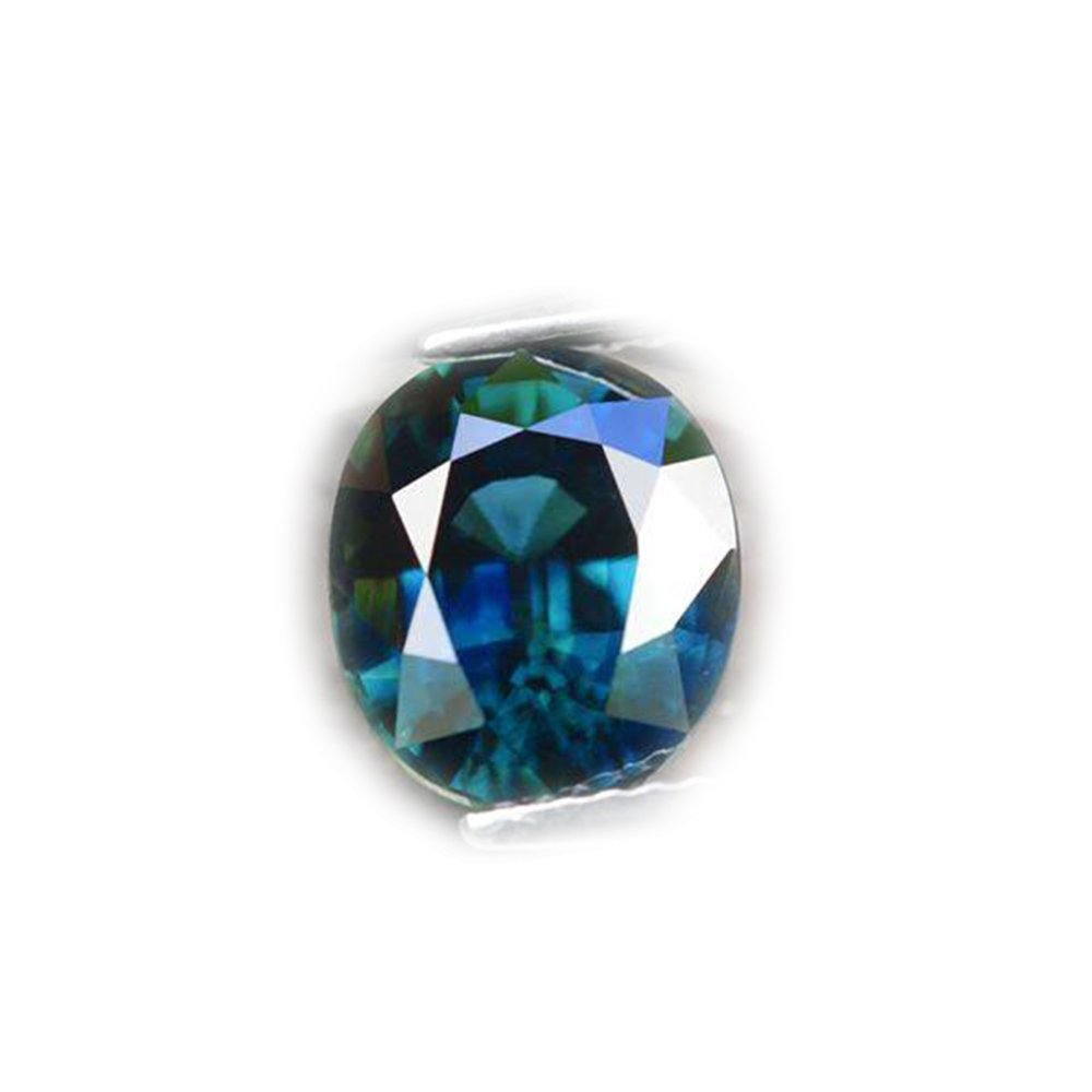 Lovemom GLC Certified 4.00ct Unheated Natural Oval Bluish Green Sapphire Tanzania #A