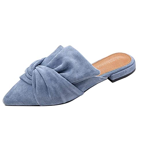 Gtagain Puntiaguda Ponerse Mocasines Mujeres - Plana Punta Gamuza Mule Slip On Zapatilla Informal Bombas Individual Verano Confort Sandalias Zapatos: ...