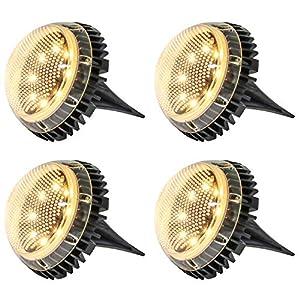 Bangcool Luci Solari Giardino 8 LED Lampada Led Solare Giardino IP67 Impermeabile Fari Calpestabili Faretti Sepolta per… 51v6is9W%2BEL. SS300