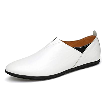 Zapatos de cuero perezosos para hombres Primavera / verano / otoño Mocasines cómodos y zapatillas sin